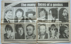 Daily Mirror - Tribute to John Lennon